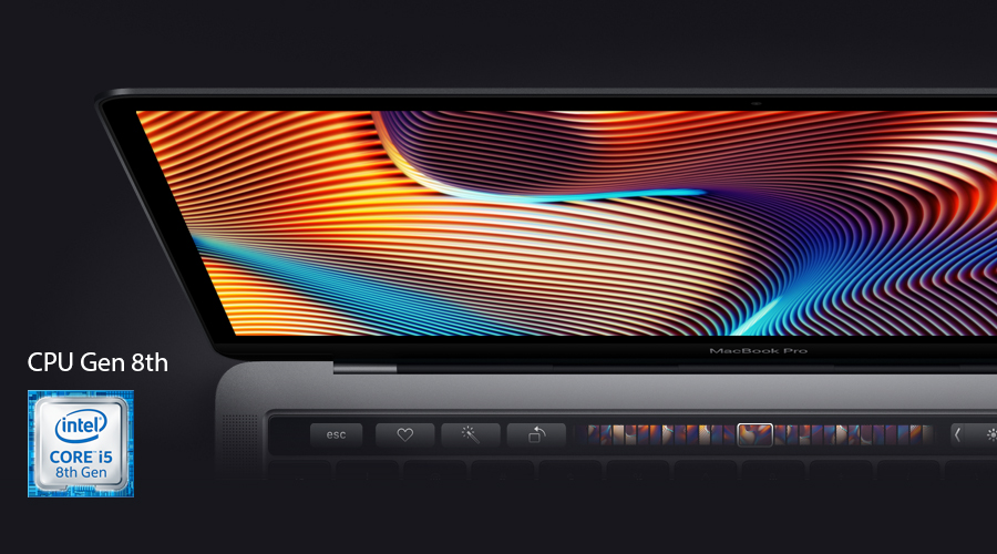 13-inch MacBook Pro with Touch Bar: 2.3GHz quad-core 8th-generation Intel Core i5 processor, 256GB - Space Grey(MR9Q2SA/A)