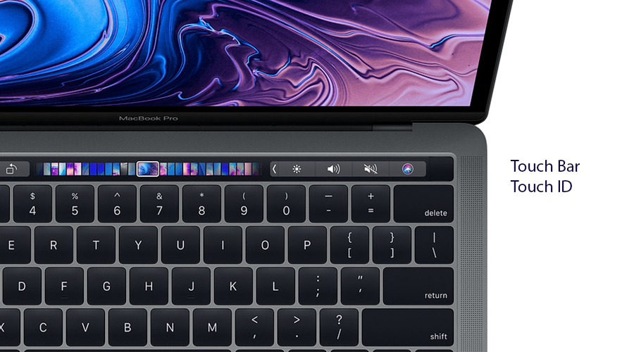 13-inch MacBook Pro with Touch Bar: 2.3GHz quad-core 8th-generation Intel Core i5 processor, 512GB - Silver(MR9V2SA/A)