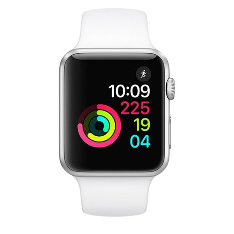 Apple Watch Series 1, 38mm Silver Aluminium Case with White Sport Band (MNNG2VN/A)