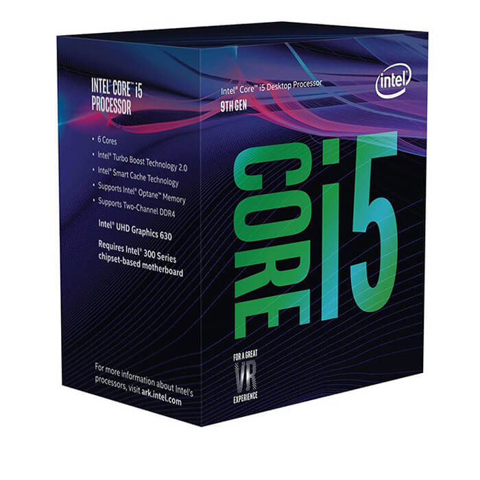 Intel® Core™ i5 - 9400 2.9GHz (Max Turbo 4.1GHz) / (6/6) / 9MB / Intel® UHD Graphics 630