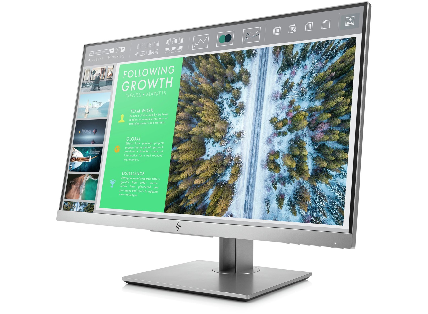 Monitor HP HP EliteDisplay E243 24-inch - VGA/HDMI/DP (1FH47AA)
