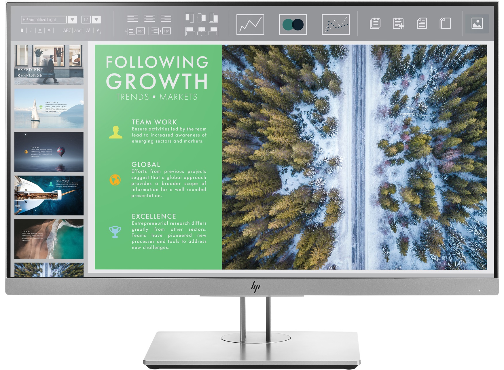 Monitor HP HP EliteDisplay E243 24-inch - VGA/HDMI/DP (1FH47AA)