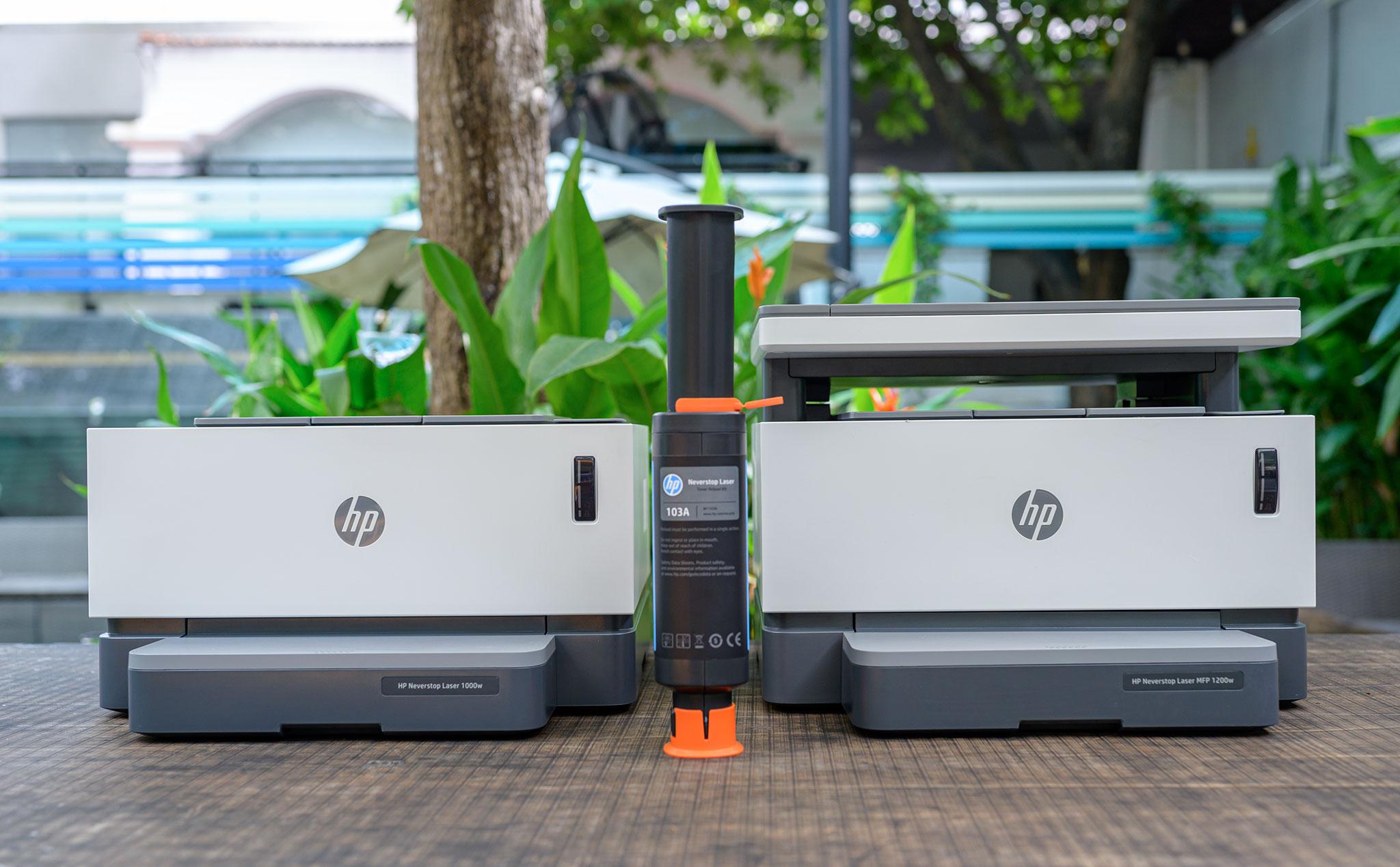 Trên tay & In thử máy in HP Laser Neverstop 1000w & 1200w: Việc bơm mực quá dễ dàng!