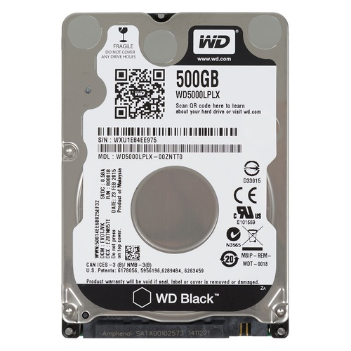 WD HDD Black 1TB 2.5