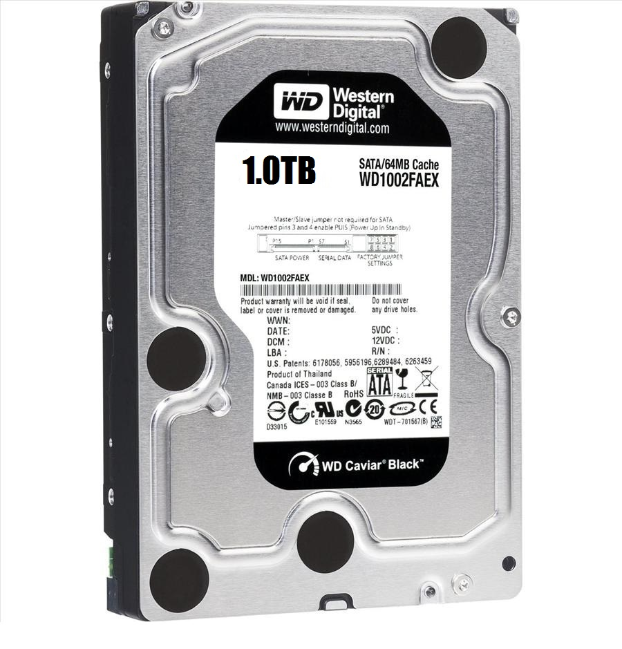 WD HDD Black 1TB 3.5