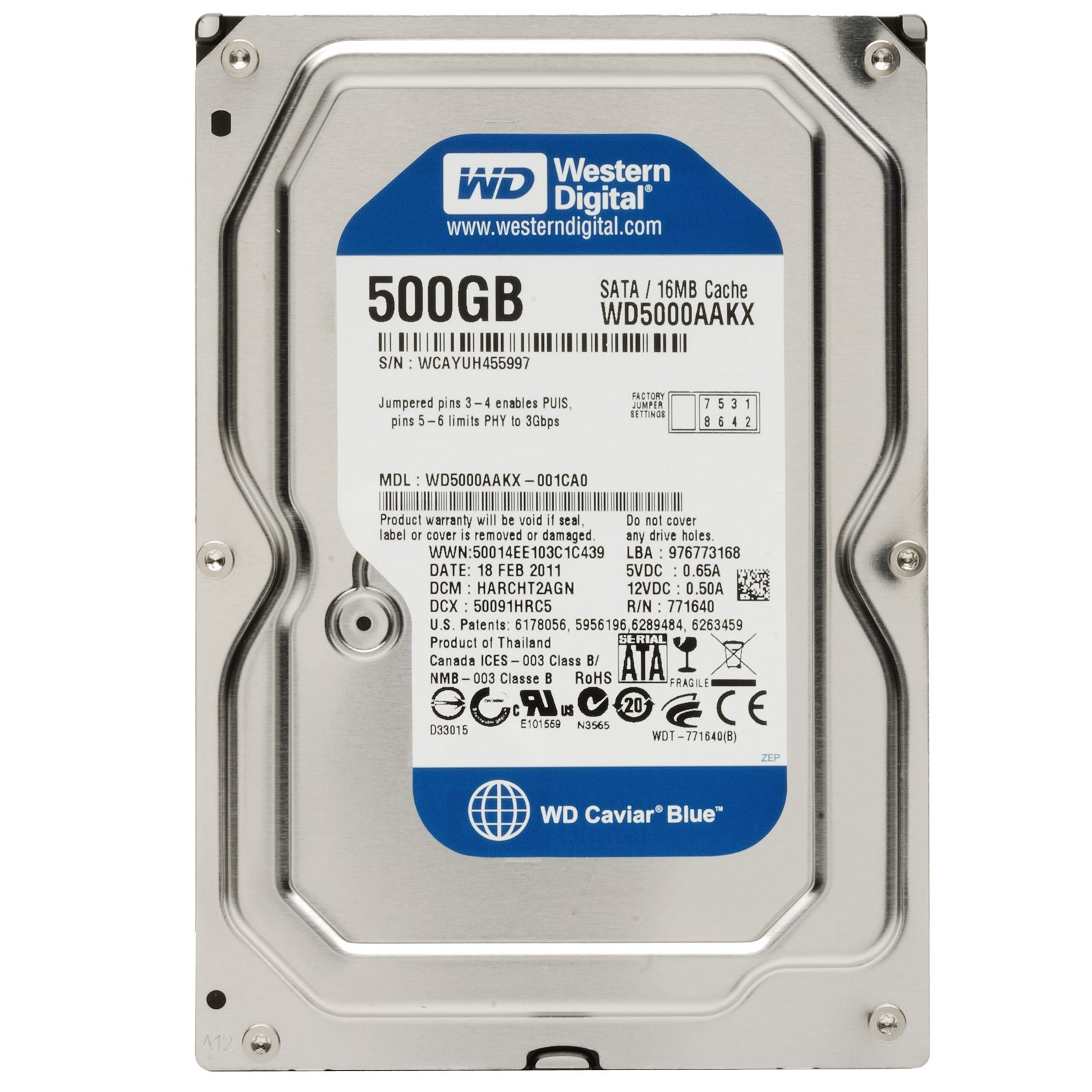 WD HDD Blue 500GB 3.5
