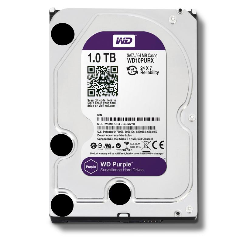 WD HDD Purple 1TB 3.5