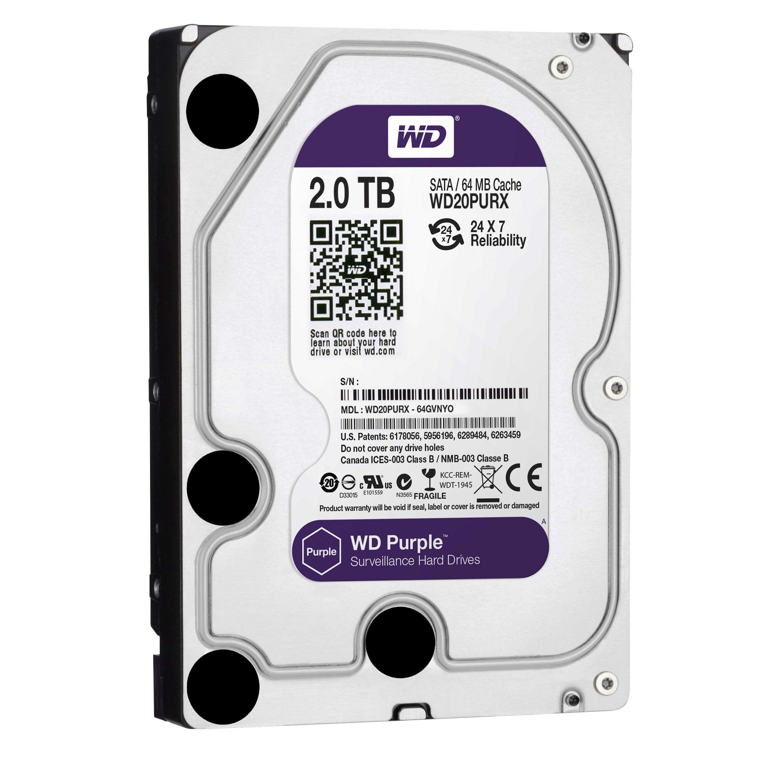 WD HDD Purple 2TB 3.5