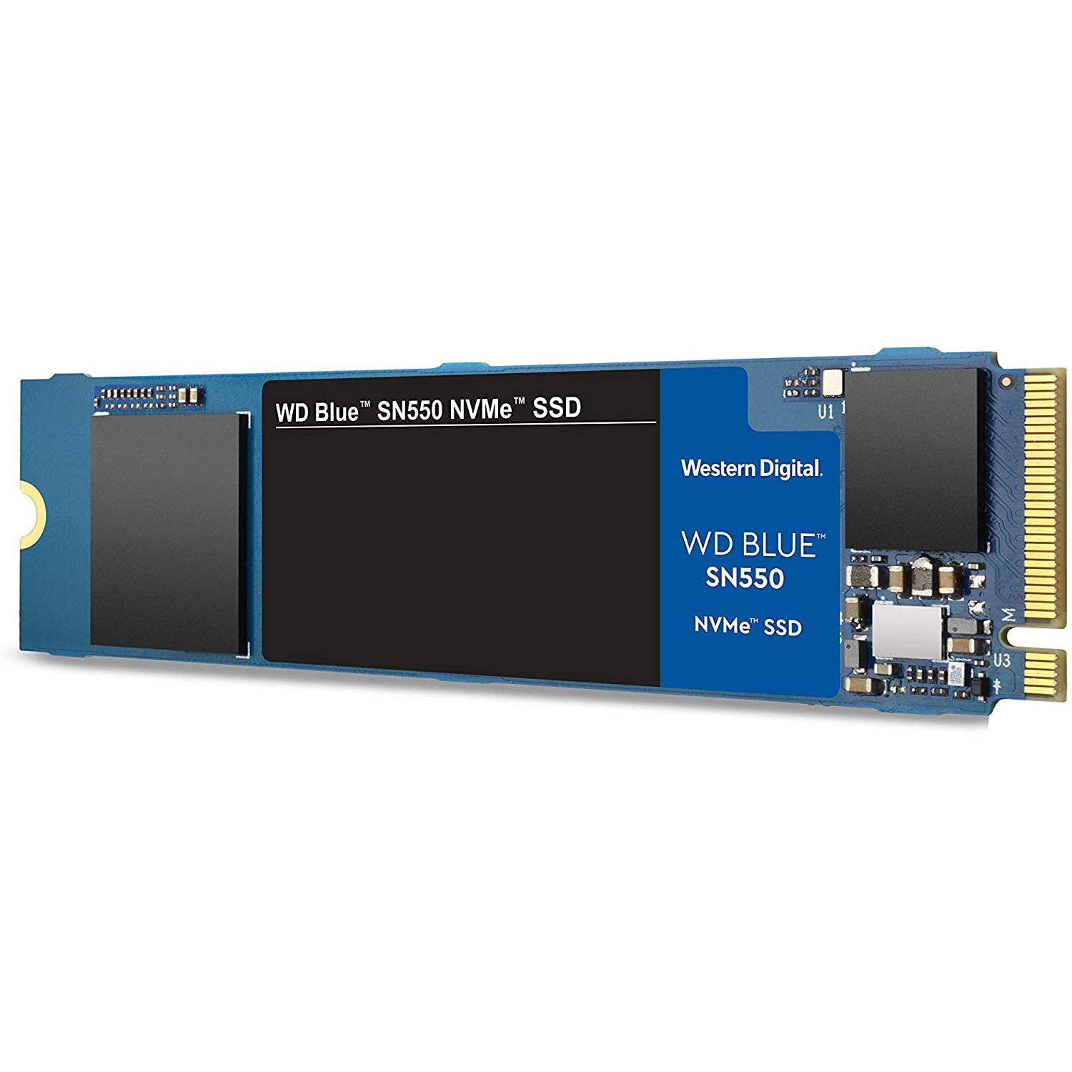 WD Blue SSD 1 TB / SN550 NVMe / M.2-2280 / PCIe Gen3x4, 8 Gb/s / Read up to 2400MB/s - Write up to 1750MB/s - Up to 300K/240K IOPS (màu xanh Blue)