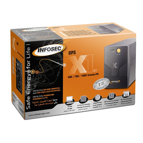UPS InfosecX1 EX 700 - 700VA/350W, USB port