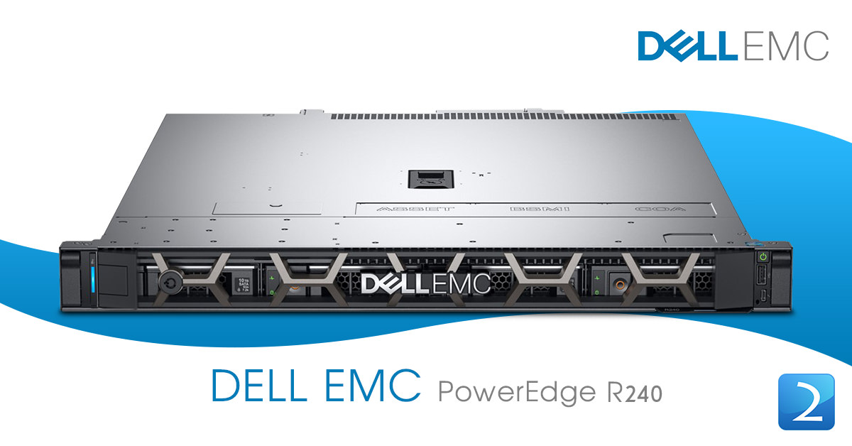 Dell PowerEdge R240 Server [E-2246G 16GB 2TB NLSAS Hotplug 4Year] NEW