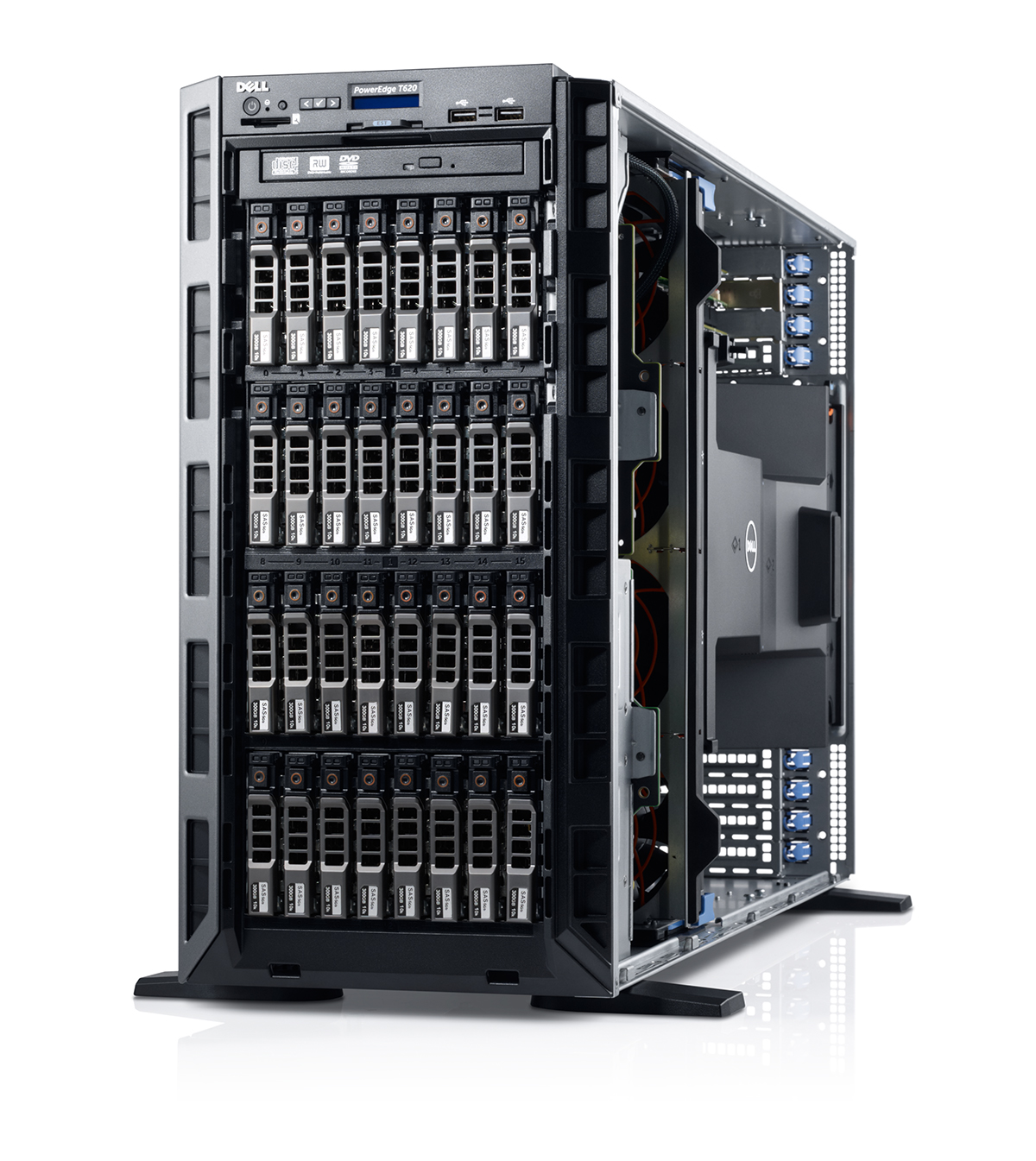 Dell PowerEdge T630 E5-2609 v4, 8GB, non-HDD 18x3.5'' hot plug, DVDRW, H730, 4x1GBE, iDRAC8 Express, 2x750W, 3 Yrs Pro