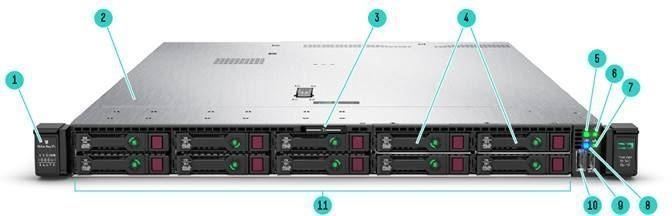 DL360 Gen10 S4214 2.2GHz 1P 12C, 16GB, 8SFF, P408i-a SAS/SATA non-HDD, 500W