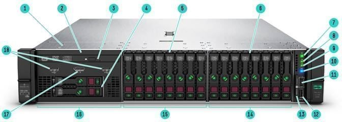 DL380 Gen10 S4208 2.1GHz 1P 8C 16GB, 8SFF, P408i-a SAS/SATA non-HDD, 500W