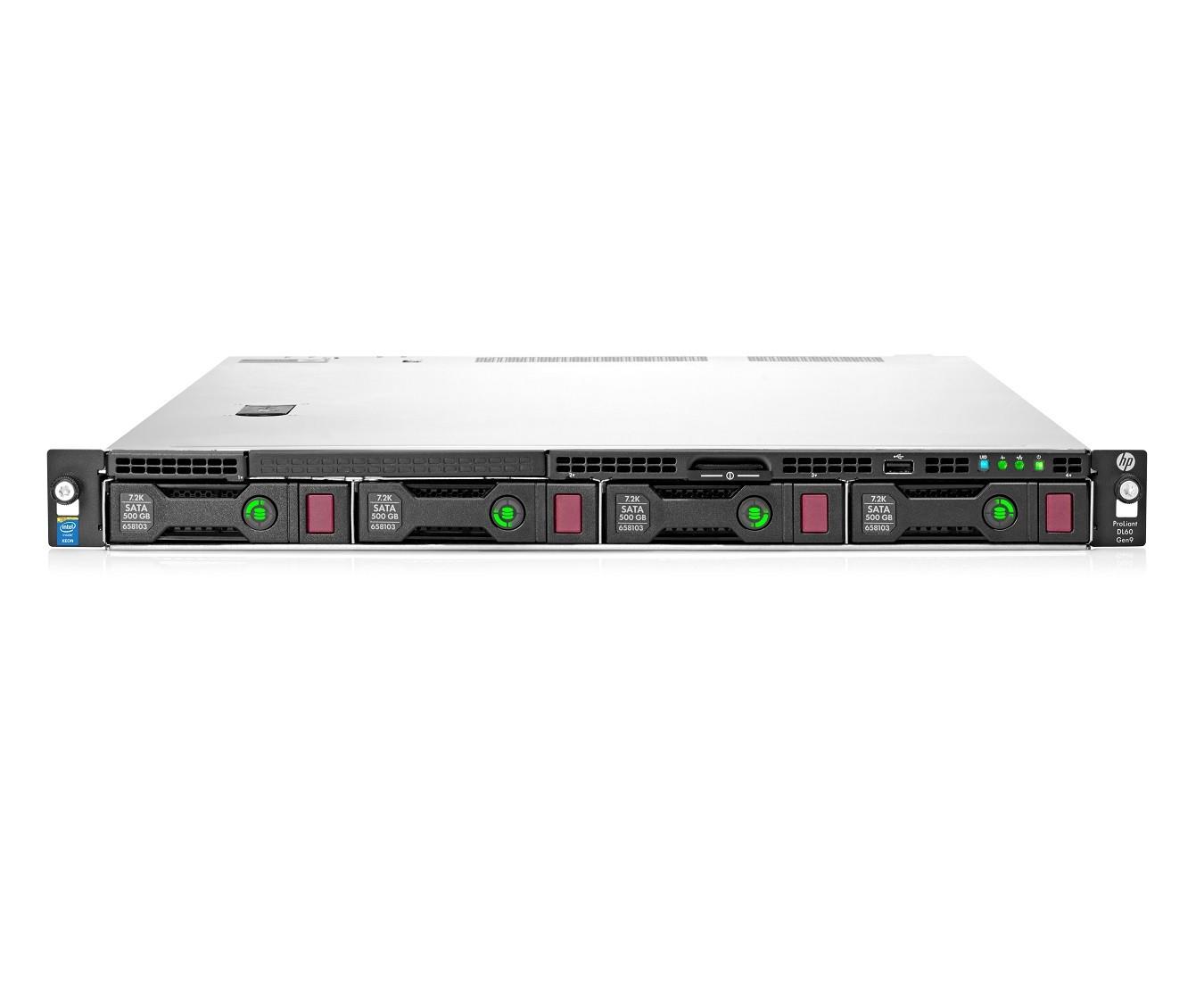 DL60 Gen9 E5-2620v4 2.1GHz 1P 8C 16GB, 4LFF, SR B140i SATA, non-HDD, 550W (777403-B21)