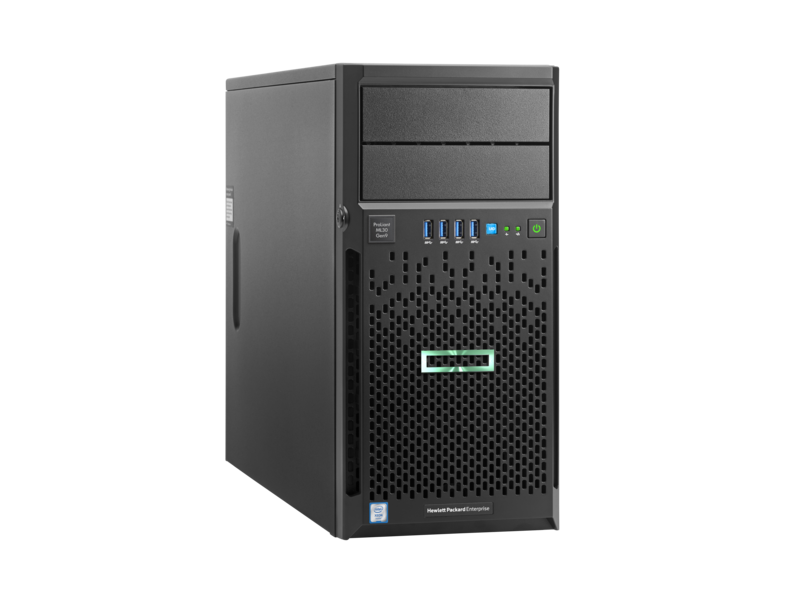 HPE ProLiant ML30 Gen9 E3-1220v6 1P 8GB-U B140i 4LFF DVD RW  SATA 350W PS Entry Server