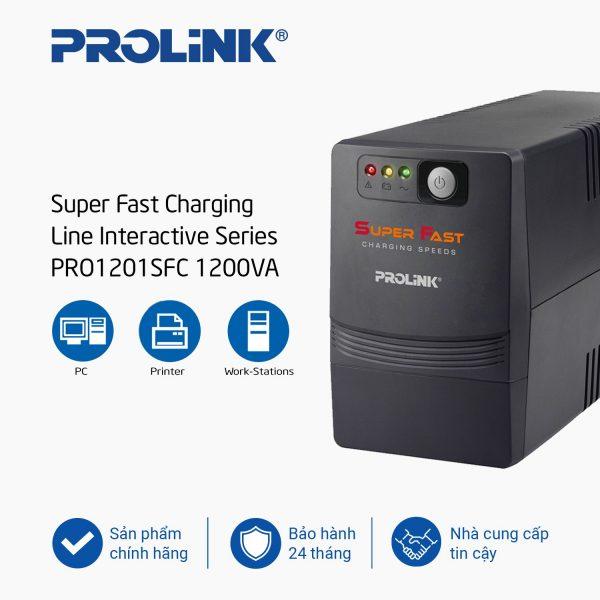 Bộ lưu điện UPS Prolink PRO1201SFC (1200VA)