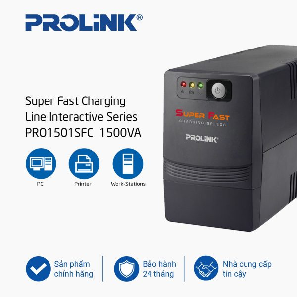 Bộ lưu điện UPS Prolink PRO1501SFC (1500VA)