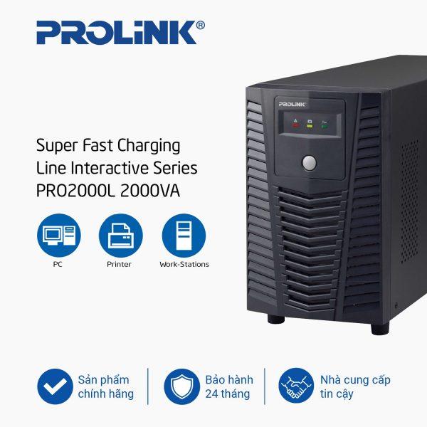Bộ lưu điện UPS Prolink PRO2000L (2000VA)