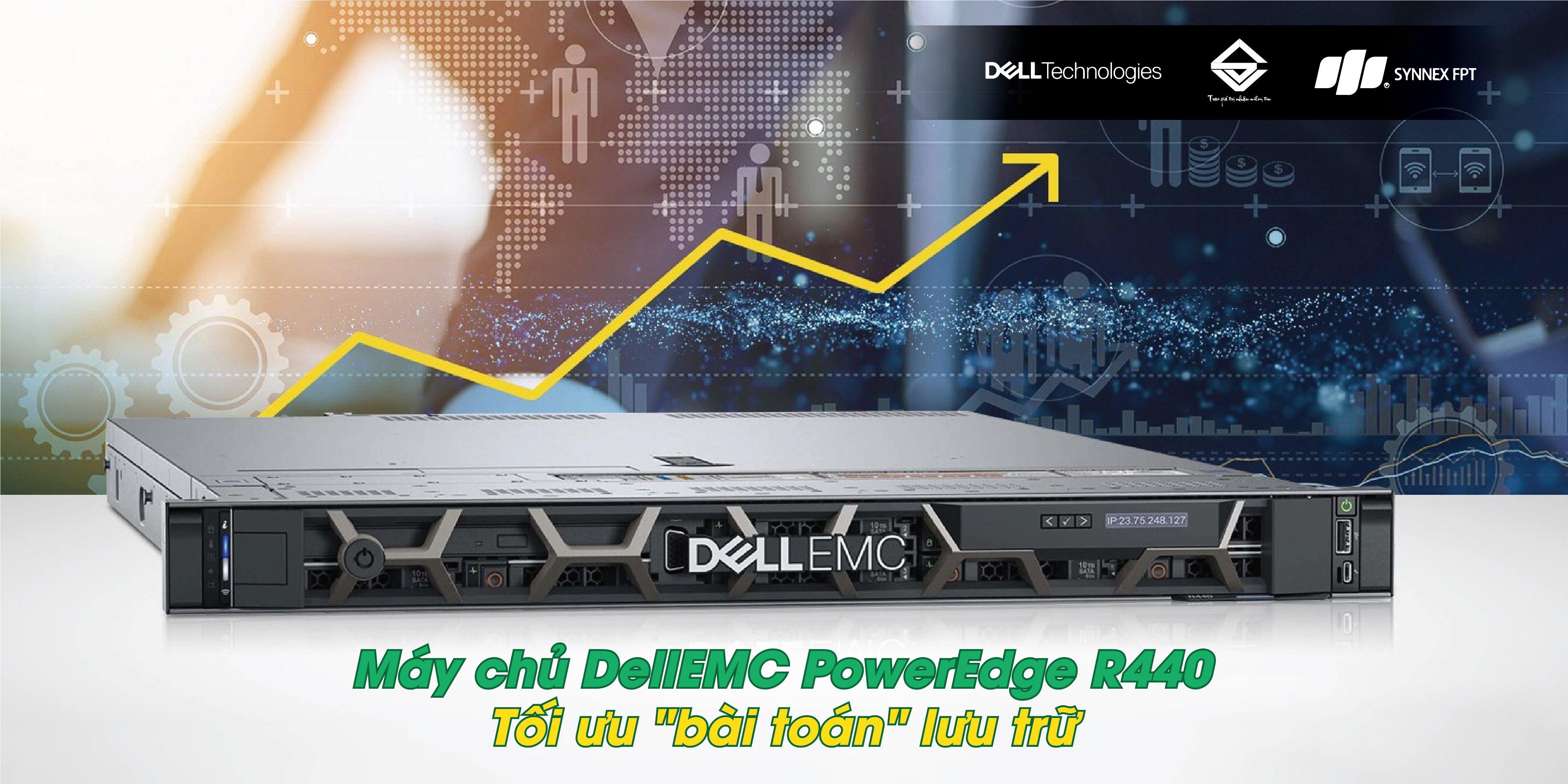 Máy chủ DellEMC PowerEdge R440 thế hệ 14 chuyên nghiệp, tối ưu